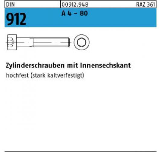 50 x  Zylinderschrauben mit Innensechskant DIN 912 12.9 M 12 x 90